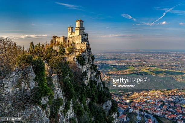 guaita tower - republic of san marino stock pictures, royalty-free photos & images