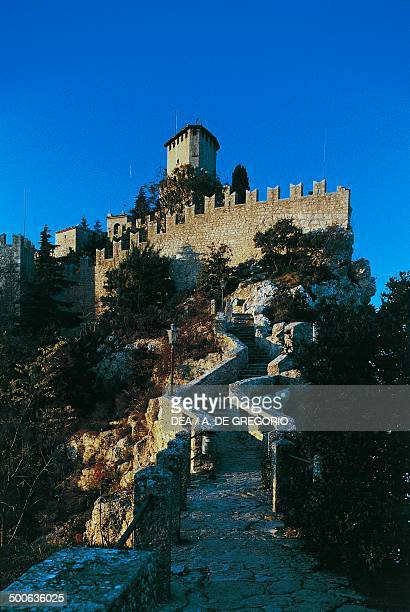 Guaita tower Rocca tower or First tower San Marino Republic of San Marino 11th century