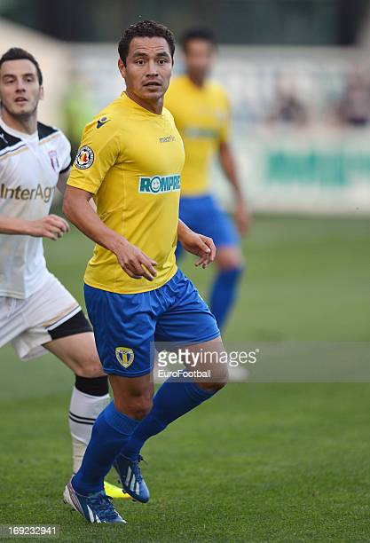 Gualberto Mojica Olmos of FC Petrolul Ploiesti in action during the Romanian First Division match between FC Petrolul Ploiesti and FC Astra Ploiesti...