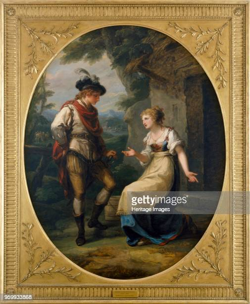 Gualtherius and Griselda' circa 1772 Painting in Kenwood House London From the Iveagh Bequest Artist Angelica Kauffman