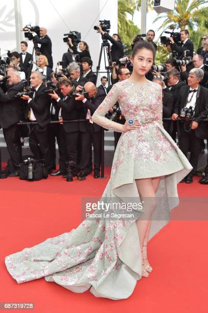 383b81787cc Guan Xiao Tong attends the 70th Anniversary of the 70th annual Cannes Film  Festival at Palais