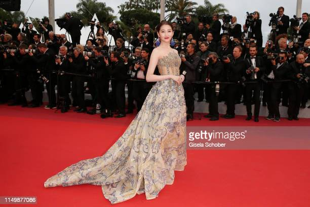 Guan Xiaotong attends the screening of Pain And Glory during the 72nd annual Cannes Film Festival on May 17 2019 in Cannes France