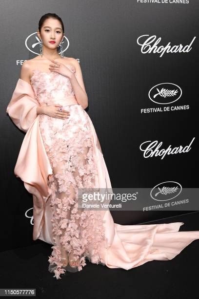 Guan Xiaotong attends the The Chopard Trophy event during the 72nd annual Cannes Film Festival on May 20 2019 in Cannes France