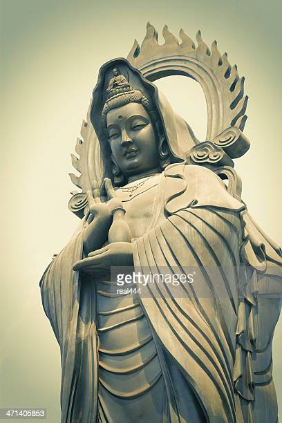 guan yin   (the goddess of mercy) - wuhan city stock photos and pictures