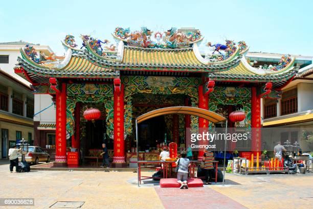 guan yin shrine in bangkok - phoenix bird stock pictures, royalty-free photos & images