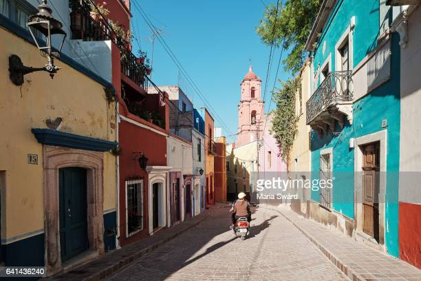 guanajuato - colorful street scene - guanajuato stock pictures, royalty-free photos & images
