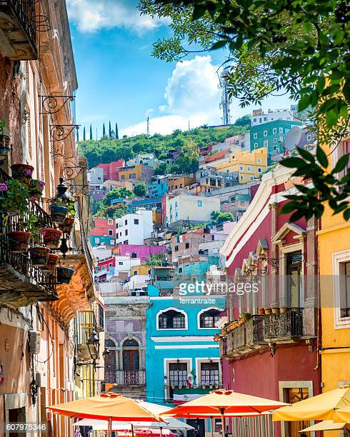 guanajuato colorful streets mexico - mexiko stock-fotos und bilder