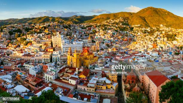 guanajuato panoramic aerial view mexico - guanajuato stock pictures, royalty-free photos & images