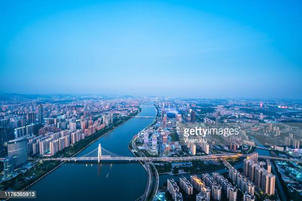 guang zhou city skyline - guangdong province stock pictures, royalty-free photos & images