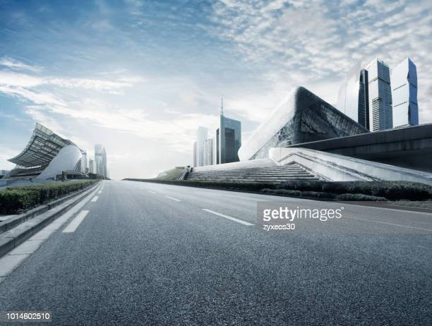 guangdong province,guangzhou,city squares and road,china - east asia, - china east asia stock pictures, royalty-free photos & images