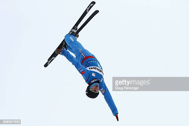 Guangpu Qi of China jumps to first place in the FIS Freestyle Skiing Aerial World Cup at the Visa Freestyle International at Deer Valley on February...