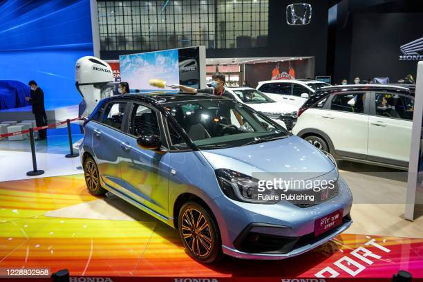 Guangqi Honda Fit Sports version at the Beijing International Auto Show, Beijing, China, September 26, 2020.- PHOTOGRAPH BY Costfoto / Barcroft...