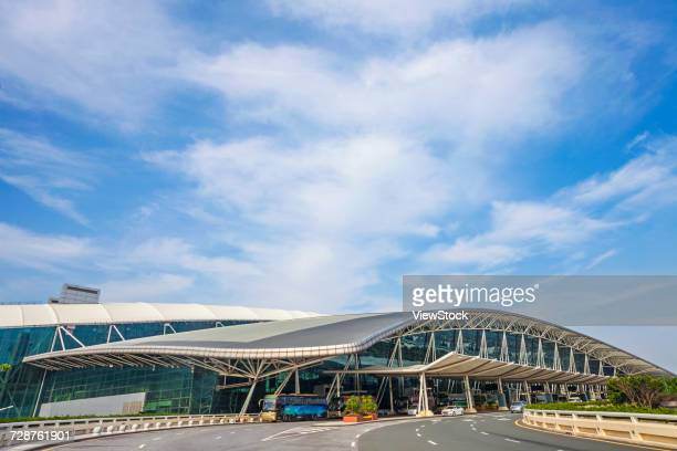 guangzhou baiyun airport in guangdong province,china - guangdong province stock pictures, royalty-free photos & images