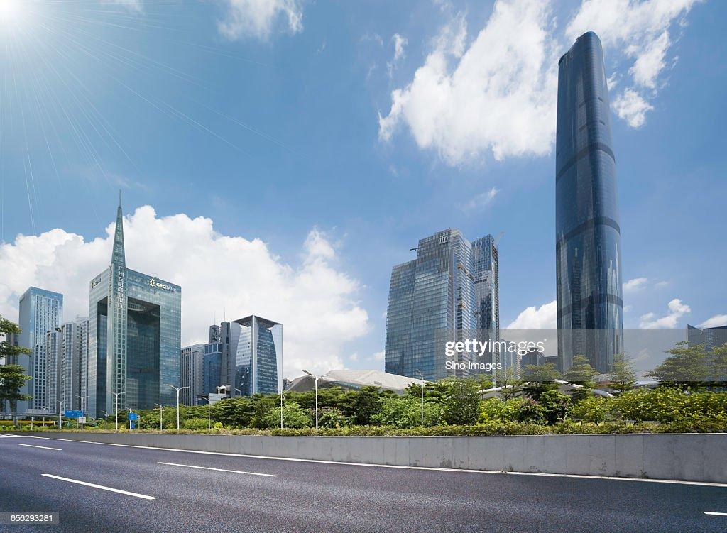 Guangzhou CBD - Zhujiang New Town : Stock Photo