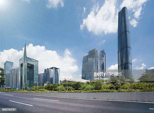 guangzhou cbd - zhujiang new town - image stock pictures, royalty-free photos & images