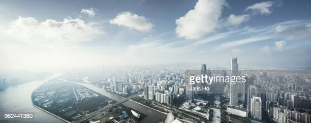 guangzhou central business district - província de guangdong - fotografias e filmes do acervo