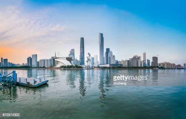 Guangzhou city scenery,Pearl River landscape