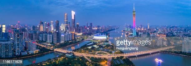 guangzhou city skyline - guangzhou stock-fotos und bilder