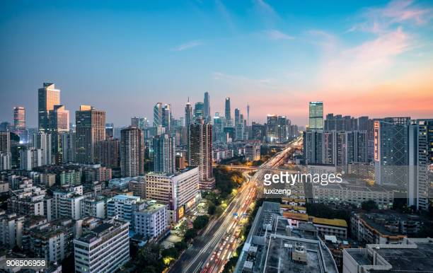 guangzhou city skyline - guangzhou stock pictures, royalty-free photos & images