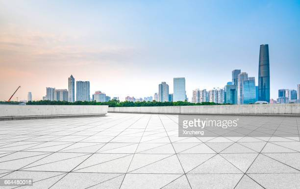 guangzhou city, town square - courtyard stock photos and pictures