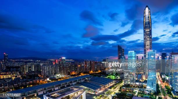 guangzhou city view - 深圳市 ストックフォトと画像