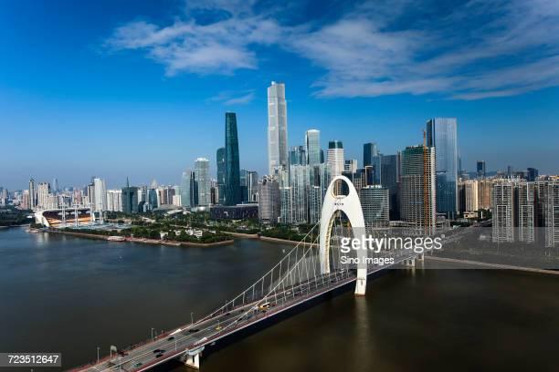 Guangzhou city with Liede Bridge, Guangdong, China