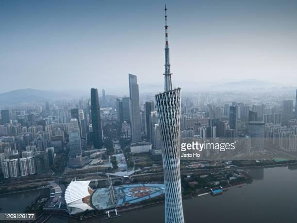 guangzhou cityscape - guangzhou stock-fotos und bilder