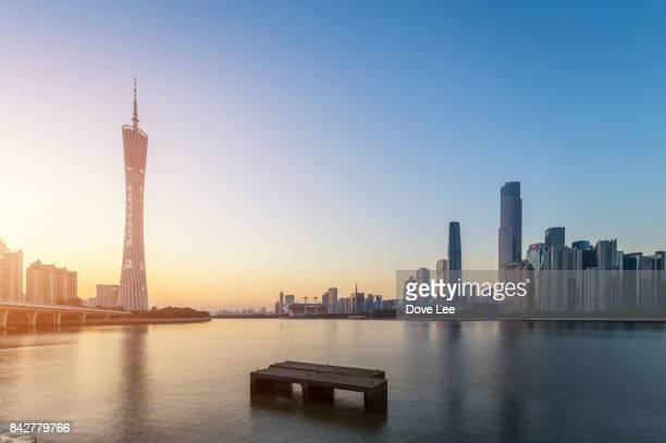 guangzhou cityscape - guangdong province stock photos and pictures