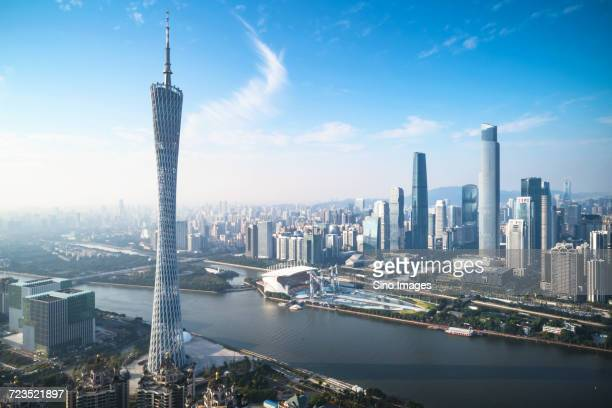 Guangzhou cityscape with Canton Tower, Guangdong, China