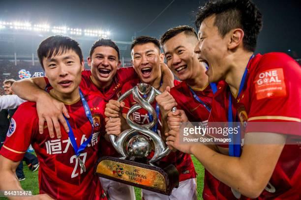 Guangzhou Evergrande midfielder Zheng Long Guangzhou Evergrande forward Elkeson De Oliveira Cardoso Guangzhou Evergrande midfielder Yu Hanchao...