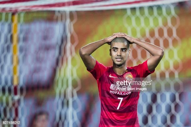 Guangzhou Forward Alan Douglas De Carvalho reacts during the AFC Champions League 2017 Group G match between Guangzhou Evergrande FC vs Suwon Samsung...