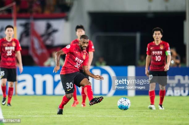 Guangzhou Forward Luiz da Silva in action during the AFC Champions League 2017 Quarter-Finals match between Guangzhou Evergrande vs Shanghai SIPG at...