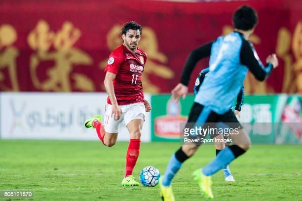 Guangzhou Forward Ricardo Goulart in action during the AFC Champions League 2017 Group G match between Guangzhou Evergrande FC vs Kawasaki Frontale...
