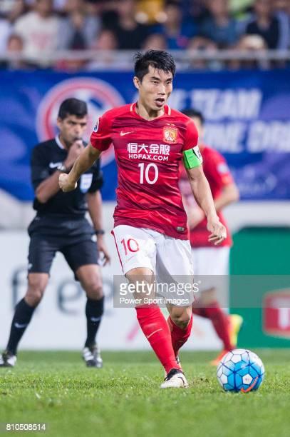 Guangzhou Midfielder Zheng Zhi in action during the AFC Champions League 2017 Group G match between Eastern SC vs Guangzhou Evergrande FC at the...