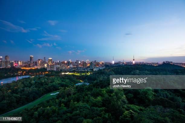 guangzhou night, guangdong province,china - guangzhou stock pictures, royalty-free photos & images