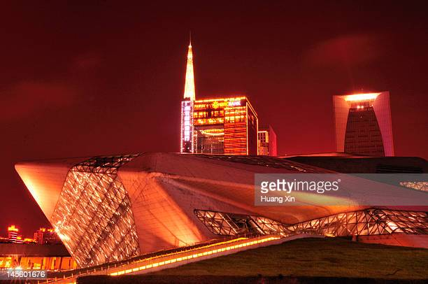 guangzhou opera house - guangdong province stock pictures, royalty-free photos & images