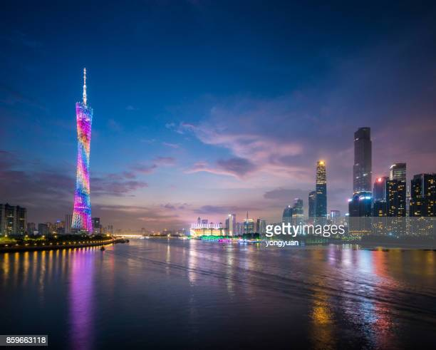 Guangzhou Skyline at Dusk