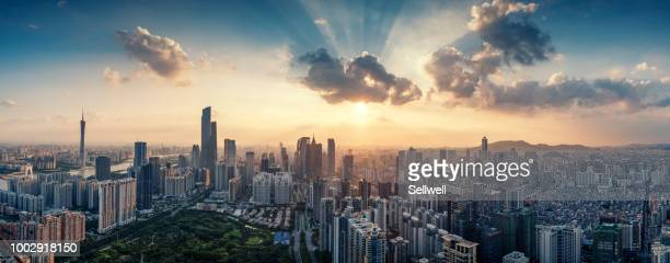 guangzhou skyline - guangzhou stock pictures, royalty-free photos & images