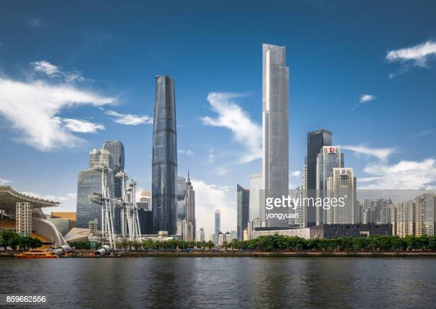 guangzhou skyline - guangdong province stock pictures, royalty-free photos & images