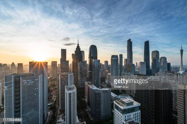 guangzhou sunrise - guangzhou stock-fotos und bilder