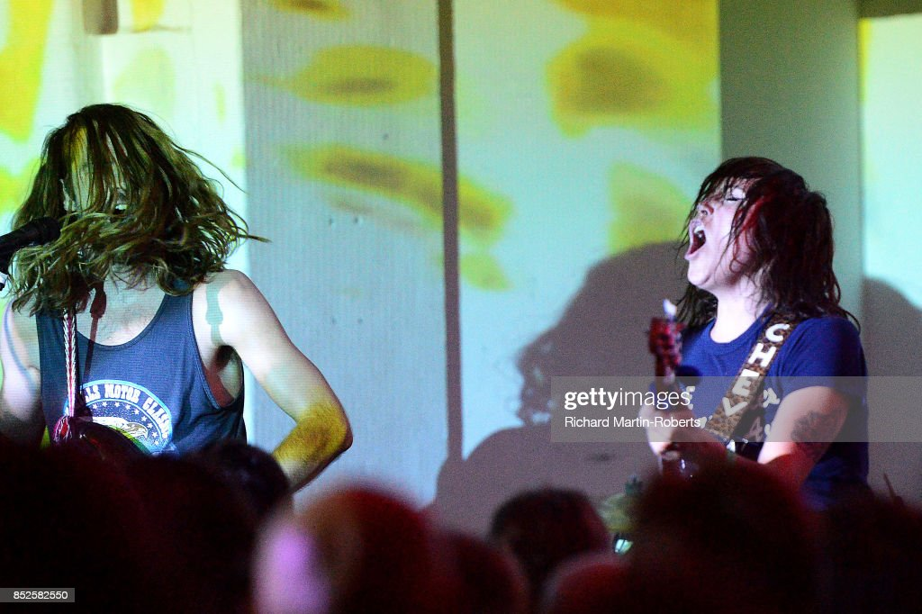 Guantanamo Baywatch perform on stage during the Liverpool International Festival of Psychedelia on September 23, 2017 in Liverpool, England.