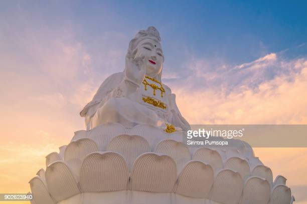 Guanyin statue in Wat Huay Pla Kang of Chiang Rai province of Thailand