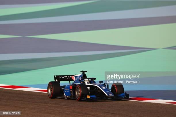 Guanyu Zhou of China and UNI-Virtuosi Racing drives during qualifying ahead of Round 1:Sakhir of the Formula 2 Championship at Bahrain International...