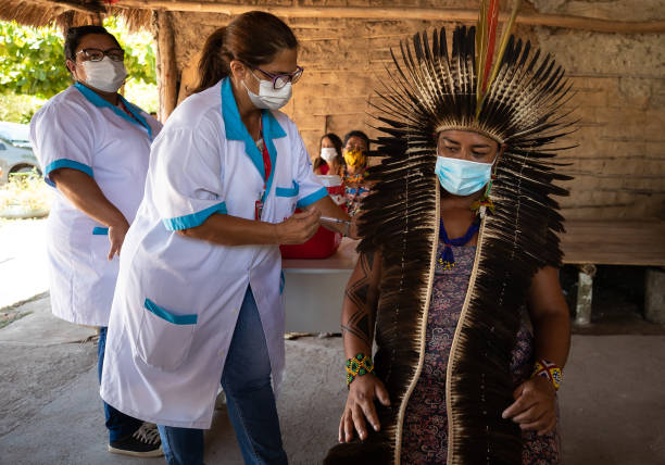 BRA: Vaccination of the Sao Mata Verde Bonita Indigenous Tribe Amidst the Coronavirus (COVID - 19) Pandemic