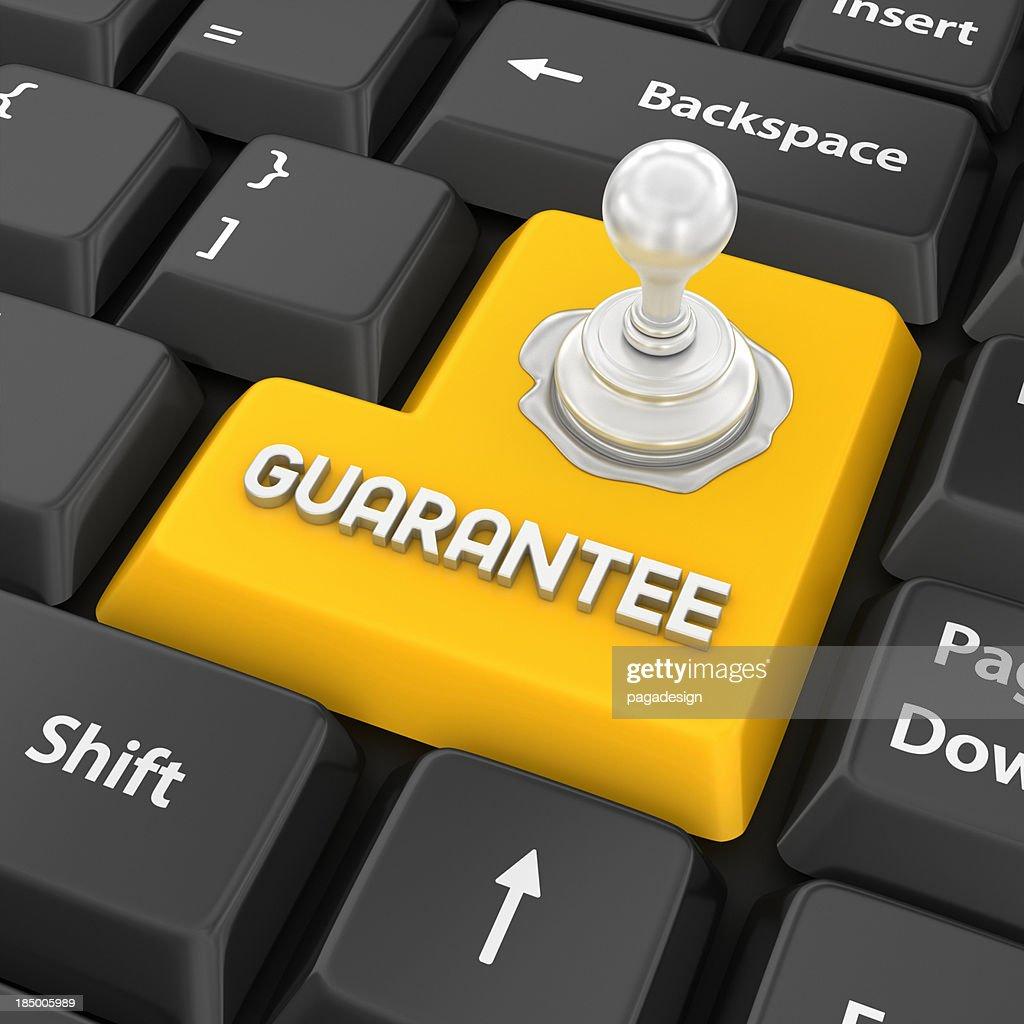 guarantee enter key : Stock Photo
