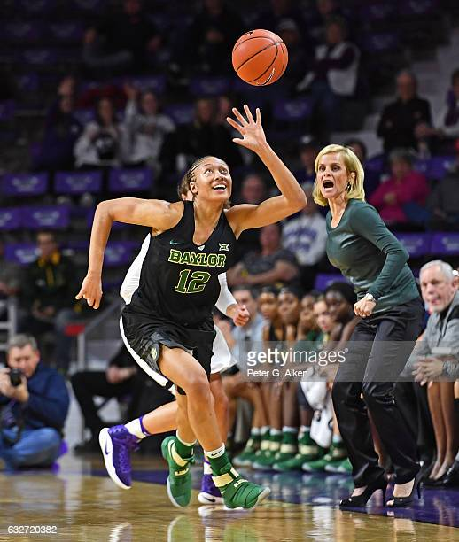 Guard Alexis Prince of the Baylor Bears runs down a loose ball against the Kansas State Wildcats during the first half on January 25 2017 at Bramlage...