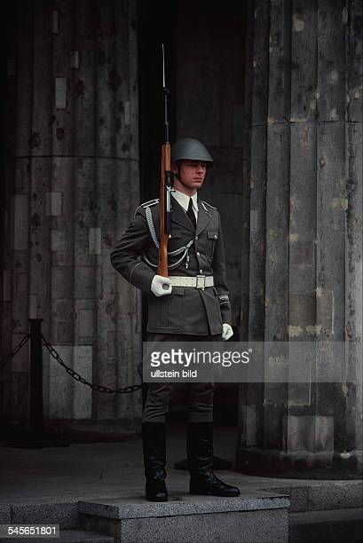 Guard at the Memorial to the Victims of Fascism and Militarism on Unter den Linden East Berlin