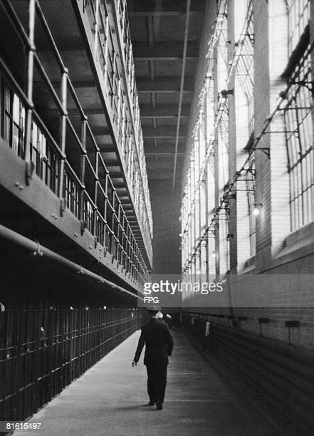 A guard at the Sing Sing Correctional Facility in Ossining New York State circa 1930