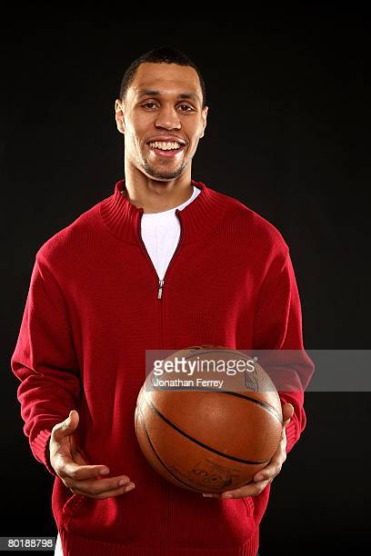 Guard Brandon Roy of the Portland Trail Blazers poses for a portrait at the Trail Blazers Practice Facility on January 26 2008 in Tualatin Oregon