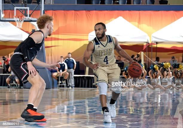 FIU guard Brian Beard Jr plays during a college basketball game between the University of South Carolina Gamecocks and the Florida International...